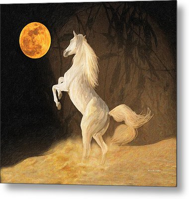 Super Moonstruck Metal Print by Angela A Stanton