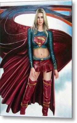 Supergirl Metal Print by Brendon Larimore