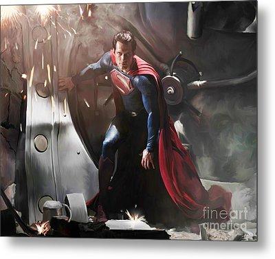 Superman Metal Print by Paul Tagliamonte