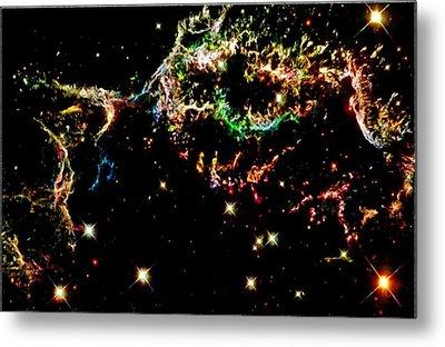 Supernova Remnant Cassiopeia A Metal Print by Amanda Struz