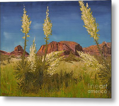 Superstition Mountain Metal Print by Jack Hedges