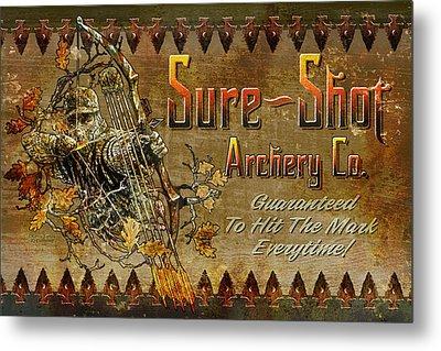 Sure Shot Archery Metal Print by JQ Licensing
