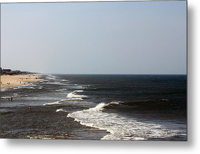 Surf And Sand Metal Print by Carolyn Ricks