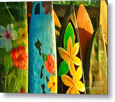 Surf Boards Metal Print by Wingsdomain Art and Photography