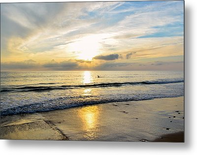 Metal Print featuring the photograph Surf In Light by Thierry Bouriat