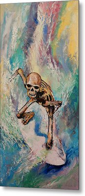 Surfer Metal Print by Michael Creese