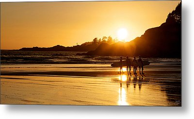 Surfing Reflections Metal Print by Lisa Knechtel