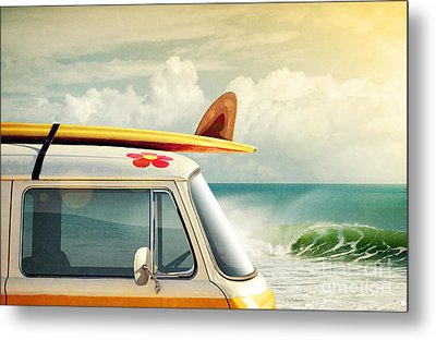 Surfing Way Of Life Metal Print by Carlos Caetano