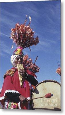 Suri Sicuri Musician Bolivia Metal Print by James Brunker