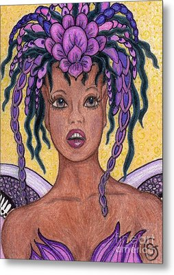 Surprise It Is The Iris Fairy Metal Print by Sherry Goeben