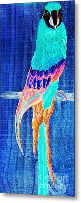 Surreal Parrot Metal Print by Eloise Schneider