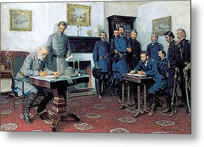 Surrender At Appomattox Metal Print by Tom Lovell