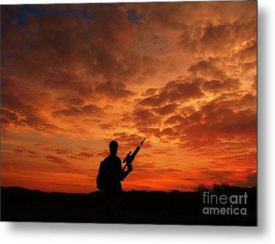 Surviving The Apocalypse Metal Print by Shane Brumfield