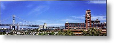 Suspension Bridge, Ben Franklin Bridge Metal Print by Panoramic Images
