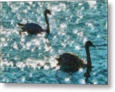 Swan Lake Metal Print by Ayse Deniz