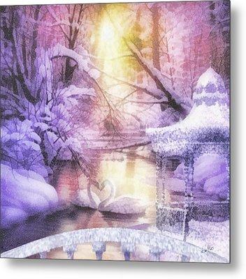 Swan Lake Metal Print by Mo T