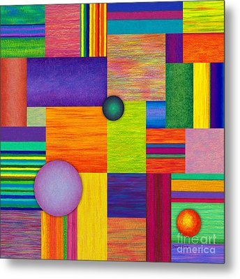 Swatches Metal Print by David K Small