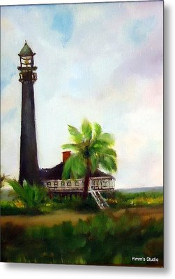 Sweet Charlie Lighthouse Metal Print by Betty Pimm