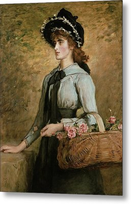 Sweet Emma Morland Metal Print by Sir John Everett Millais
