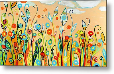 Sweet Peas And Poppies Metal Print by Jennifer Lommers