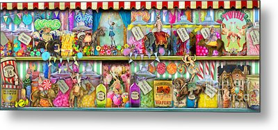 Sweet Shop Panoramic Metal Print by Aimee Stewart
