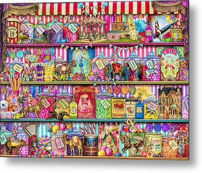 Sweet Shoppe Metal Print by Aimee Stewart
