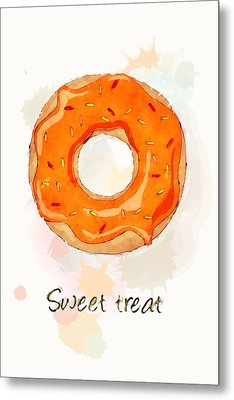 Sweet Treat Orange Metal Print by Jane Rix