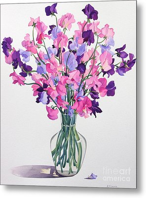 Sweetpeas Metal Print by Christopher Ryland