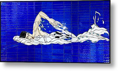 Swimmer Metal Print by Kimber Thompson