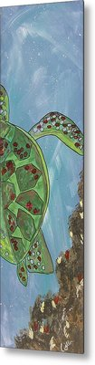 Swimming With The Turtles Metal Print by Marcia Weller-Wenbert