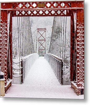 Swinging Bridge Metal Print by Benjamin Williamson