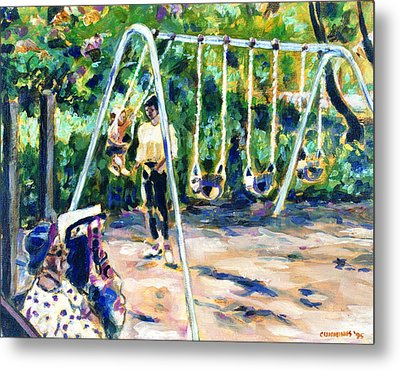 Swings Metal Print by Faye Cummings