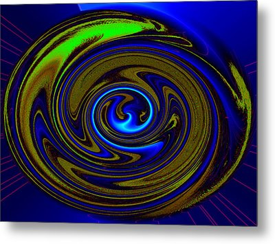 Swirl Metal Print by Claire Hull