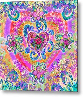 Swirley Heart Variant 1 Metal Print by Alixandra Mullins