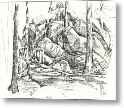 Swirling Cast Shadows At Elephant Rocks  No Ctc101 Metal Print by Kip DeVore