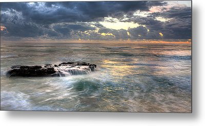 Swirling Seas Metal Print by Peter Tellone