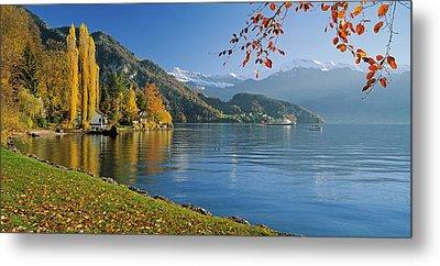 Switzerland, Canton Lucerne, Lake Metal Print by Panoramic Images
