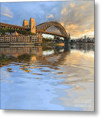 Sydney Harbour Bridge Australia Spectacular Early Morning Light Metal Print by Colin and Linda McKie