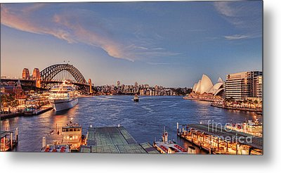 Sydney Harbour By Night Metal Print by Colin and Linda McKie