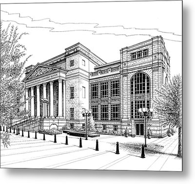 Symphony Center In Nashville Tennessee Metal Print by Janet King