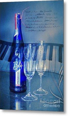 Symphony In Blue Metal Print by Jutta Maria Pusl