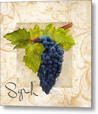 Syrah Metal Print by Lourry Legarde