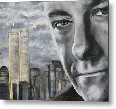 T And The Wtc Metal Print by Eric Dee