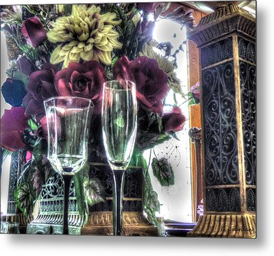 Table Arrangement Metal Print by Cathy Jourdan