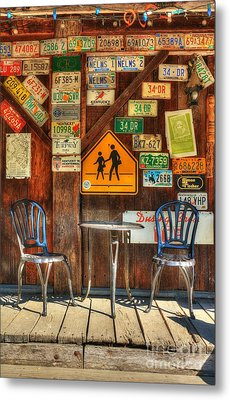 Table For Two Metal Print by Mel Steinhauer