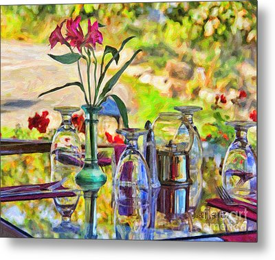 Table Setting Reflections Metal Print by Jack Schultz