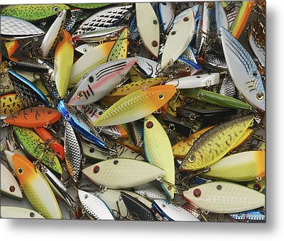 Tackle Box Tangle Metal Print by Jerry McElroy