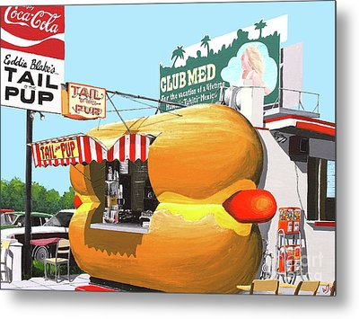 Tail O The Pup Metal Print by Wingsdomain Art and Photography