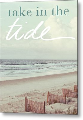 Take In The Tide Metal Print by Kathy Mansfield