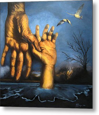 Take My Hand Metal Print by Andrea Banjac